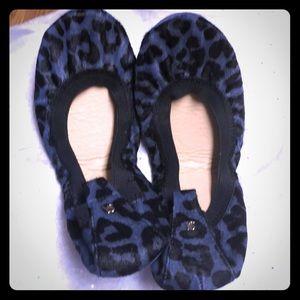 NIB RARE Yosi Samra Size 9, Blue Velvet Jaguar